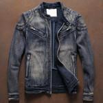 Windbreaker Motorcycle Solid Jeans Jackets