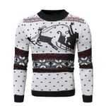Casual Pattern Knitted Pullovers Fashion Slim Sweater