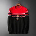 Luxury vintage Bee crown stripes embroidered Sweaters