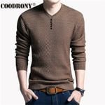 Casual V-Neck Pullover Slim Fit Long Sleeve Sweaters