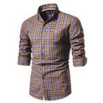 Cotton Long Sleeve Plaid Social Dress Shirts