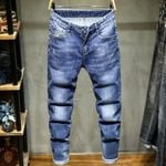 Fashion Button Fly Luxury Jeans