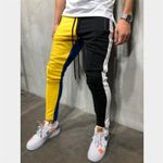 Patchwork Sports Fitness Tights Pants