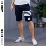 dyed casual sport cotton contrast color short