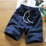 casual Linen Drawstring Knee Length short