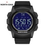 Digital Waterproof Bluetooth Auto Date Calories Black Wristwatches