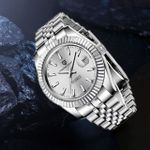 automatic mechanical stainless steel business watch