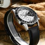 Luxury Military Sport Leather Waterproof Wristwatch