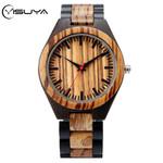 Stripe Dapple Pattern Bamboo Wooden Watches