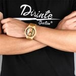 Colored Stripes Dial Bamboo Wood Watches