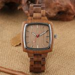 Coffee Brown Walnut Full Wooden Watch