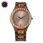 Coffee Brown Reflective Dial Wood Watch