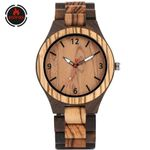 Brown Quartz Movement Luxury Wood Watches