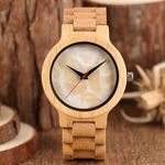 Full Bamboo Marble Design Wood Watches