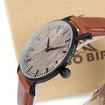Case Dial Face Soft Leather Band Wood Watches