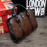 Crazy Horse Leather Business Handbag