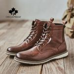 Cowboy style Casual Leather Basic Boots