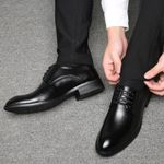 Business British Lace-up Black Brown Oxford Shoes