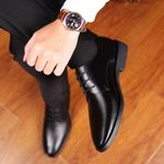 Formal Leather Italy Pointed Toe Oxford Shoes