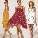 Sleeveless Polka Dot Elegant Boho Bohemian Dress