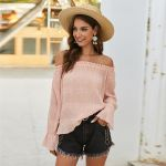 Solid Off Shoulder Sexy Casual Tunic Boho Bohemian Blouse