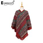 Tassels Knitted Wraps Thick Warm Bohemian Sweater