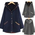 Design Fashion Hood Thick Fleece Boho Coats