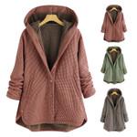 Fall Nice Hooded Lattice Vintage Boho Coat