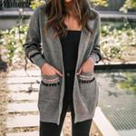 Long Vintage Knitted Tassel Sleeve Boho Coats