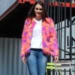 Fur Clorful Casual Short Boho Jacket