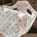 Sexy Lace Embroidered Beach Boho Bohemian Kimonos