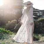 Maxi Chiffon Cover Up Lace Boho Kimono