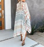 Floral Crochet Loose Cover Up Boho Kimono