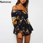 Sexy Strapless Off The Shoulder Long Sleeve Boho Bohemian Rompers