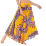 High Waist Lace Up Vintage Print Boho Bohemian Skirts