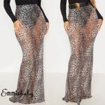 Fashion Sexy Leopard High Waist Casual Boho Bohemian Skirts