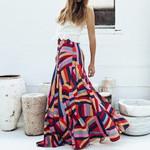 Printed Geometric Zip Printed Boho Bohemian Skirts