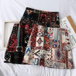 Folk Partern Embroidery Vintage Boho Bohemian Skirts