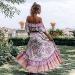 Hippie Vintage Floral Print Maxi Elastic Waist Boho Bohemian Skirts