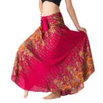 Long Hippie Gypsy Flowers Elastic Waist Boho Bohemian Skirts