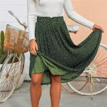 Fashion Retro Polka Dot Pleated Boho Bohemian Skirts