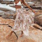 Chiffon Long Maxi Elegant Floral Printed Boho Skirts