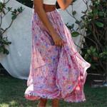 High waist Floral Long Elegant Boho Bohemian Skirts