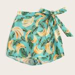 Fashion Casual Fruit Banana Printed Boho Bohemian Shorts