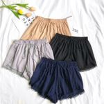 Fashion Vintage Elastic High Waist Boho Bohemian Shorts