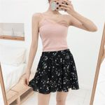 Fashion Floral Print Elastic Waist Boho Shorts