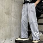 Workout Split Hem Solid Cotton High Waist Boho Bohemian Pants