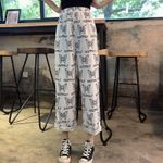 Ankle Length Cute Graphic butterfly Print Boho Bohemian Pants