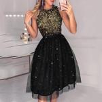 Elegant Sexy Glitter Sleeveless Sequin Mesh Dresses