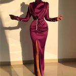 Elegant Draped Buttons Design Dress